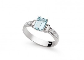 Aquamarine diamond ring 1
