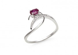 Classic white gold Ruby ring  1