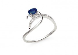 Classic white gold Sapphire ring 1