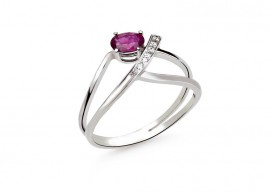 Diamonds and Ruby ring 1
