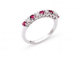 Ruby and diamond wedding ring 1