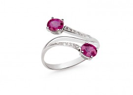 White gold Ruby ring 1